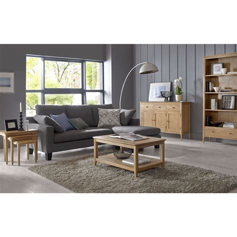 Low Living Room Furniture Telford Solid Oak Furniture Low Living Room Office Bookcase Ebay