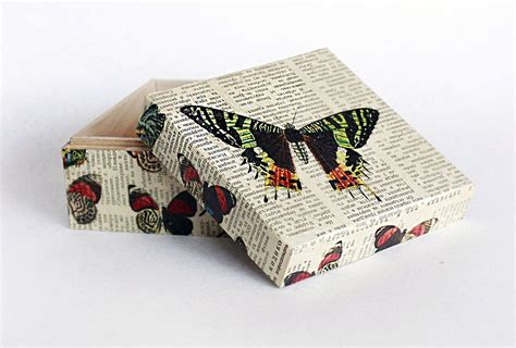 How To Decoupage Wooden Box - keepsake box memory box decoupage box jewelry by