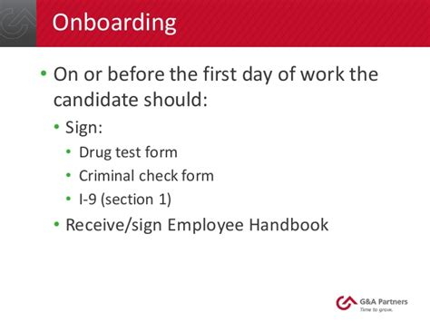 Offer Letter Contingent On Background Check G A Partners Webinar Pitfalls To Avoid During The Hiring Proce