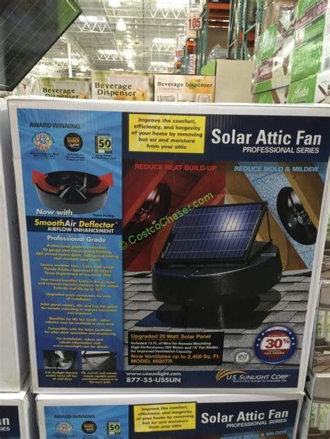solar attic fan costco us sunlight solar attic fan 20w model 9920tr costcochaser