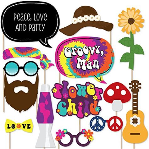 printable hippie photo booth props hippie bus photo prop party accessory 1 count 1 pkg