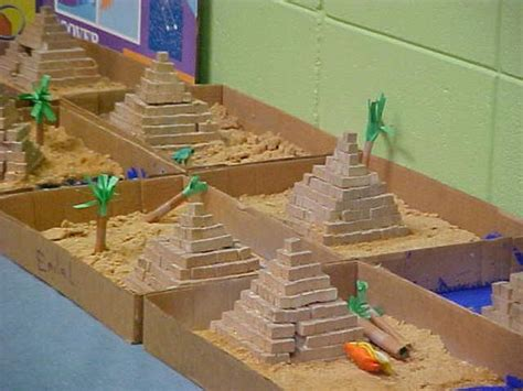 pyramid craft project project ideas school projects and student on