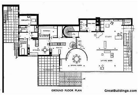 villa tugendhat floor plan tugendhat villa plans images