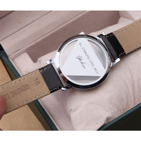 Jam Tangan Quartz Black jam tangan triangle quartz yq007 black