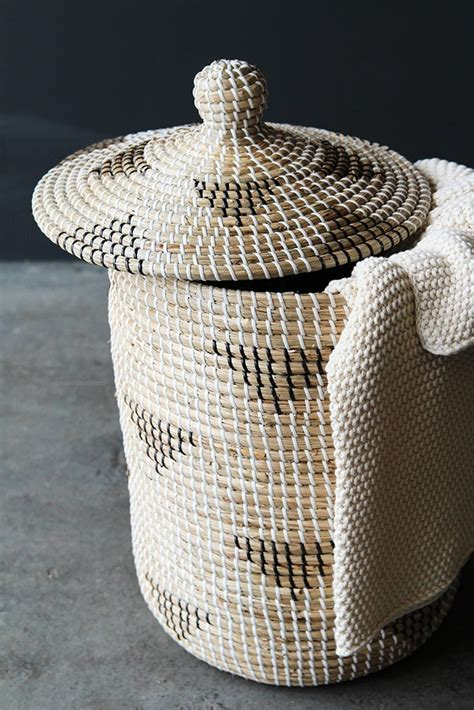 Rattan Laundry Basket With Lid From Rockett St George Wicker Laundry Hers With Lids