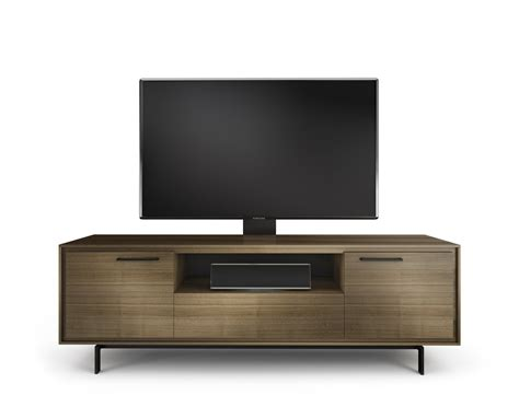 modern tv console bdi 8329 walnut signal modern tv stand atmosphere