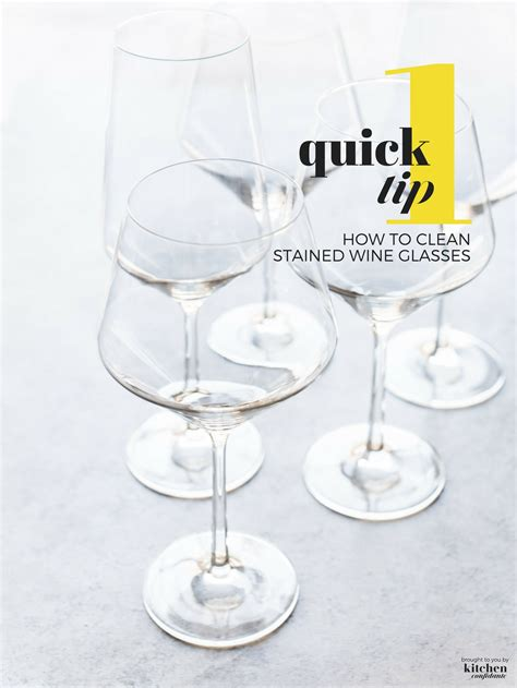 How To Clean Wine From by How To Clean Stained Wine Glasses One Tip