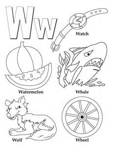 color that starts with w my a to z coloring book letter w coloring page