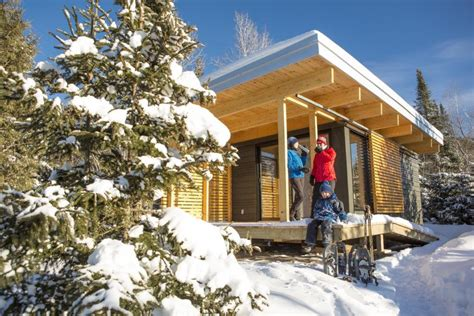 small modern cabin plans chalet exp a tiny modern cabin for quebec s wilderness