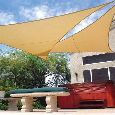 Coolaroo Patio Shades by Coolaroo Coolhaven Shade Sail Triangle 12 Ft 473792