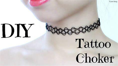 tattoo neck choker diy gargantilha choker tend 234 ncia 2017 como fazer