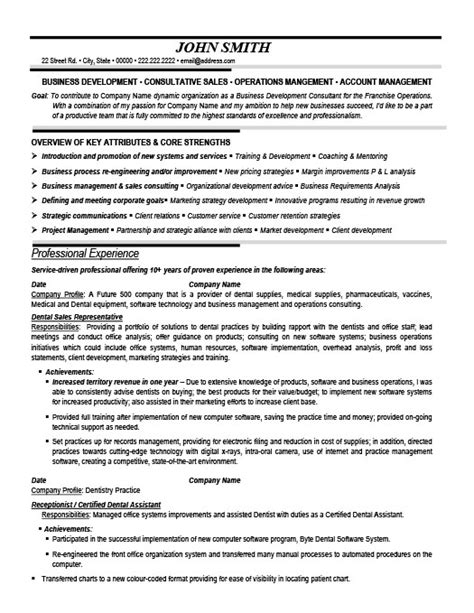 dental resumes sles dental sales representative resume template premium