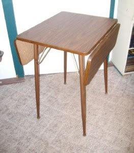 apartment size drop leaf table mid century modern drop leaf dinette table walnut formica