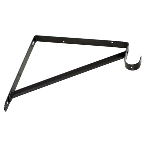 lowes shelving brackets shop style selections steel 10 71 in x 1 in bronze shelf bracket at lowes