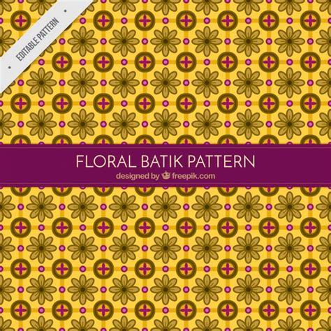 batik pattern download floral yellow batik pattern vector free download