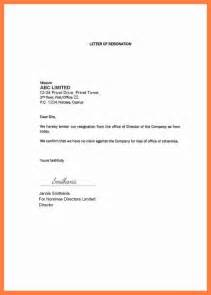 resignation letter template 1 month notice formal letter