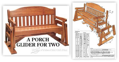 free glider bench plans porch glider plans woodarchivist