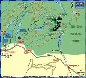colorado ohv trail maps durango colorado trail maps images