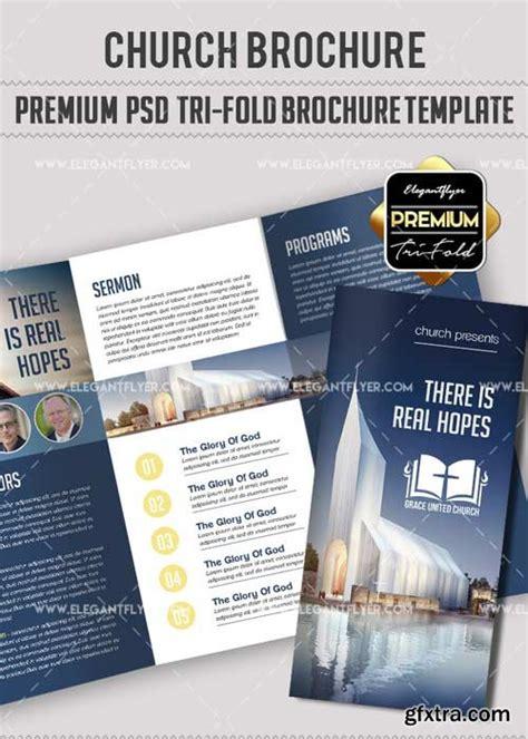 brochure templates videohive church v8 premium tri fold psd brochure template 187 vector