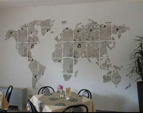 newspaper wall projects ideas