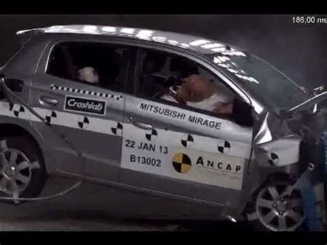 accident recorder 1993 mitsubishi mirage navigation system ancap 2013 mitsubishi mirage frontal crash test 5 star safety rating youtube