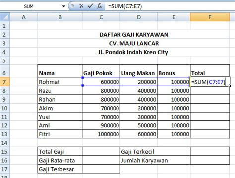 tutorial rumus microsoft excel 2010 cara menggunakan rumus if di excel 2013 detail for h in
