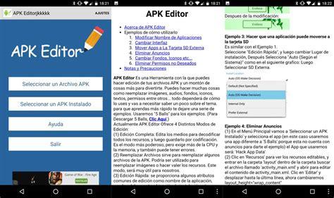 editor apk modifica y clona cualquier aplicaci 243 n con apk editor