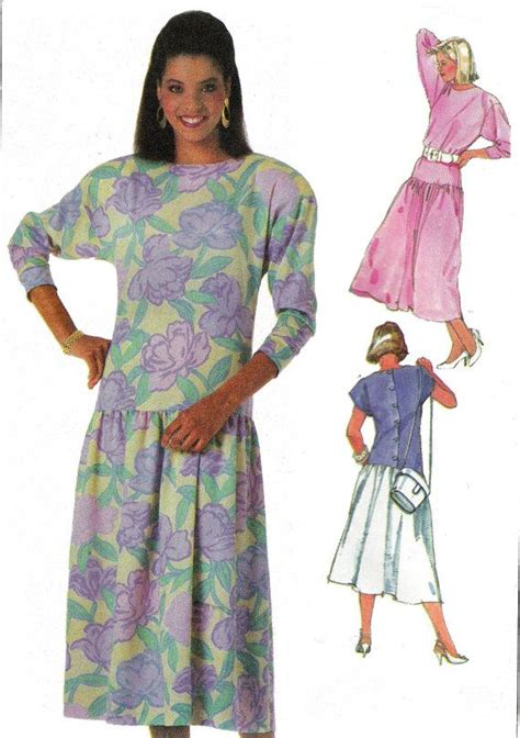 pattern review drop waist dress 80s drop waist dress pattern simplicity 7846 vintage