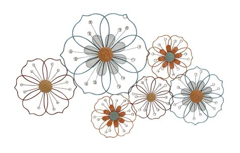 decorative art flowers large flower silhouettes floral metal wall art