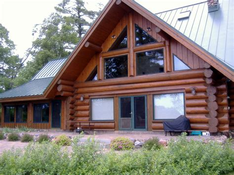Log Cabin Wood Stain by Log Home Refinishing Back Brushing Stain