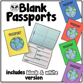 Passport Templates For Teachers by Blank Passport Template By Blue Bees Workshop Teachers