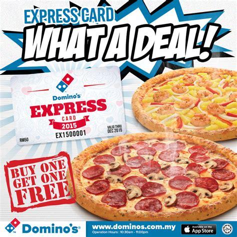 domino pizza voucher indonesia domino s express card 2015 free regular pizza voucher