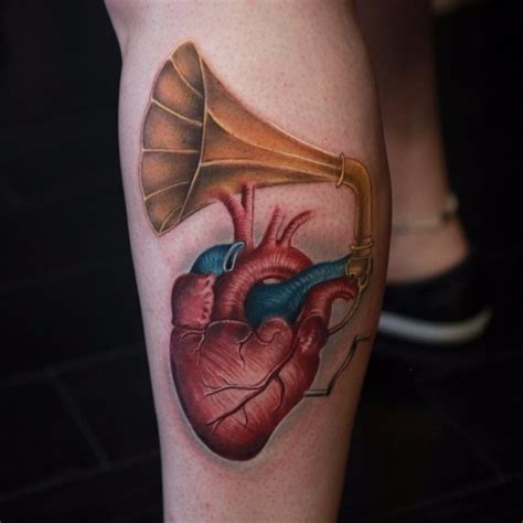 heartbeat tattoo on leg heart music love tattoo on leg best tattoo ideas gallery