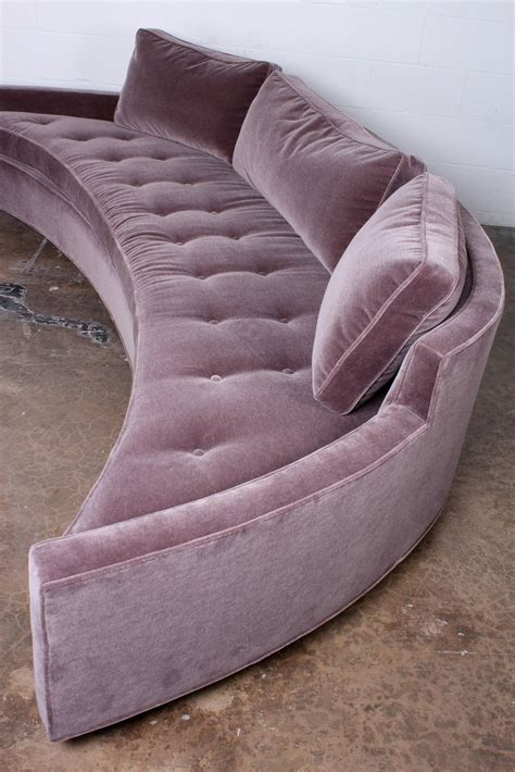 harvey probber curved sofa curved sofa by harvey probber in mohair at 1stdibs