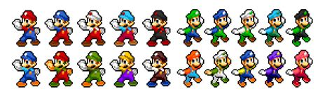 mario colors mario and luigi palette sprites by ninboy01 on deviantart