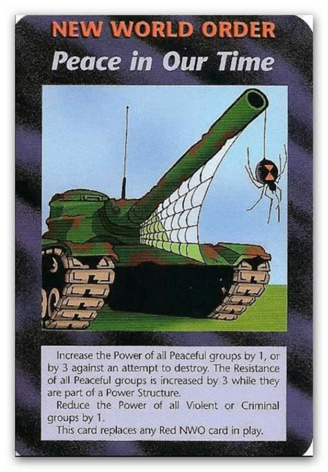 buy illuminati card illuminati cards nwo peace in our time by icu8124me on