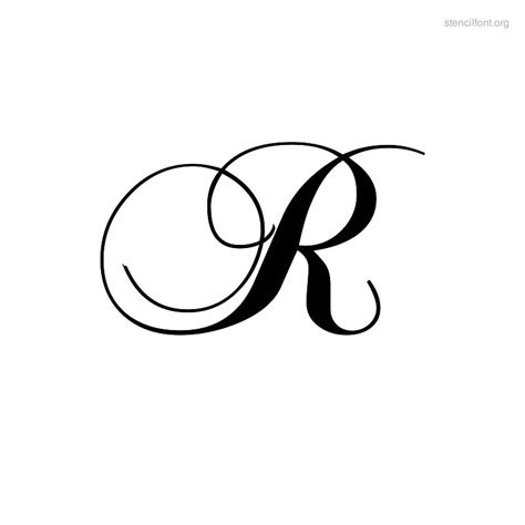letter r tattoo 8 best images of letter r script cursive letter r