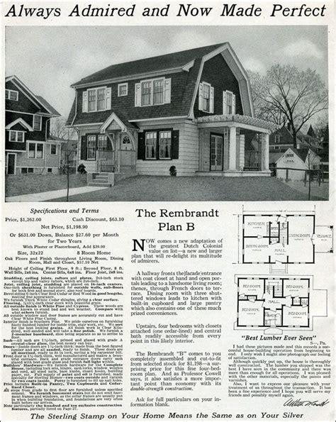 dutch colonial revival house plans 1916 sterling rembrandt dutch colonials pinterest