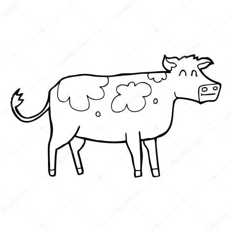 imagenes de vacas a blanco y negro vaca de dibujos animados blanco y negro vector de stock