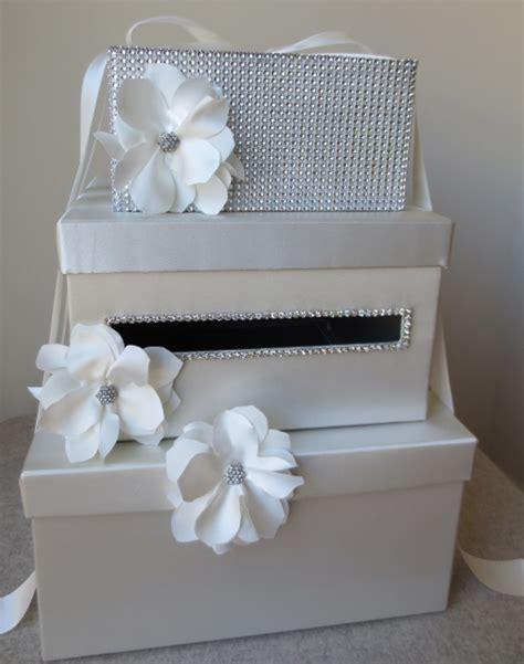 Handmade Money Boxes - wedding money box card box white by wrap artist