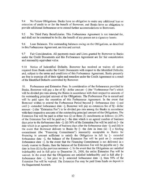 forbearance agreement sle forbearance agreement for free page 4