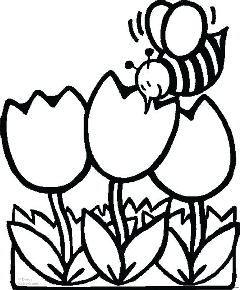 coloring pages bees flowers bee with flowers coloring sheet for kidsfree printable