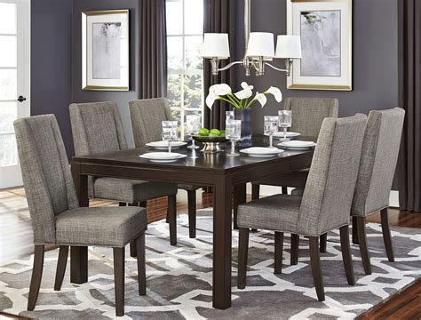 kavanaugh brown rectangular extendable dining room set
