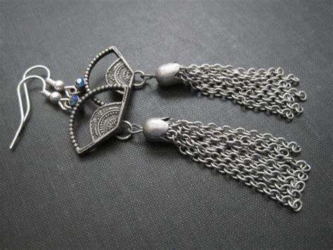 Anting Simple Fan Tassel Earrings fan tassle dangle earrings vs jewelry jewelry