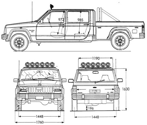 4 door jeep drawing car blueprints jeep blueprints vector drawings