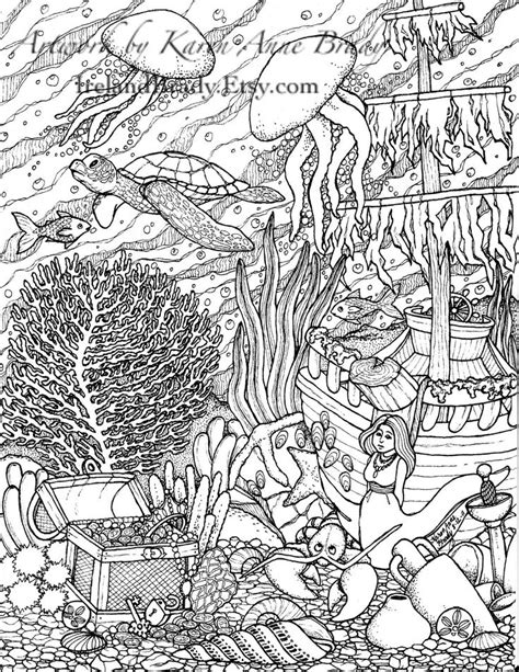 complicated fish coloring pages intricate color by number pages humming belles