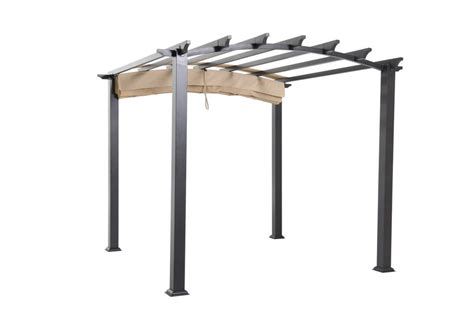 hton bay arched pergola 9x9 the home depot canada