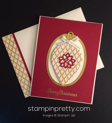 Holiday Gift Card Ideas - simple pretty ornament christmas card stin pretty
