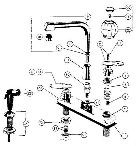 price pfister kitchen faucet parts diagram pfister faucet parts wiring diagram and engine diagram
