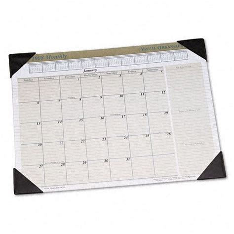 Monthly Desk Pad by Visual Organizer Executive Monthly Desk Pad Calendar